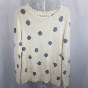 LC Lauren Conrad Ultra Soft Fuzzy Polkadot Sweater